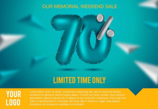 Final sale poster or flyer design