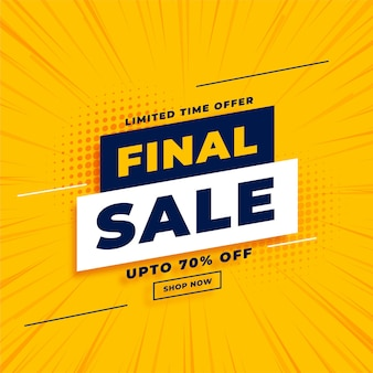 Final sale yellow  with offer details