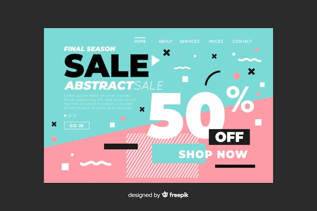 Final season sale abstract landing page