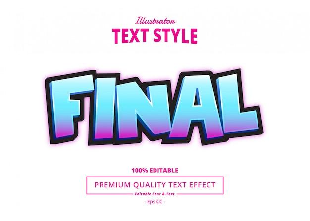 Final text effect