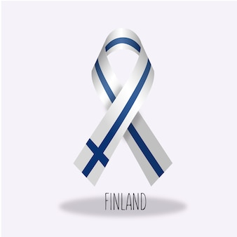 Finald flag ribbon design