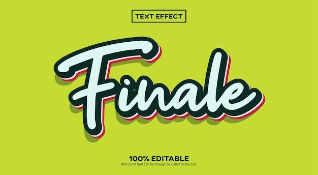 Эффект финального 3d-текста