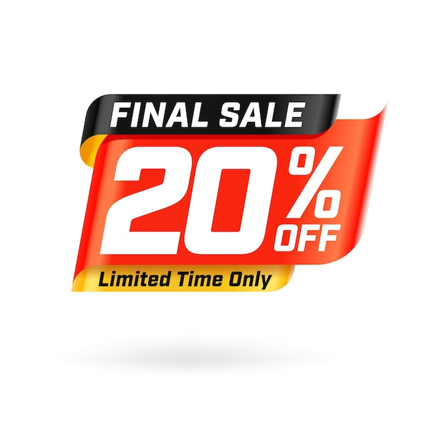 Finale sale with 20 percent off limited time only template