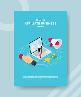 Finance affiliate business people handshake on laptop money