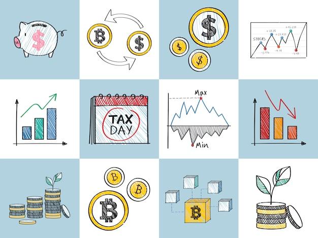 財務および財務実績コンセプトイラスト