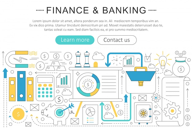 Finance, banking investment concept