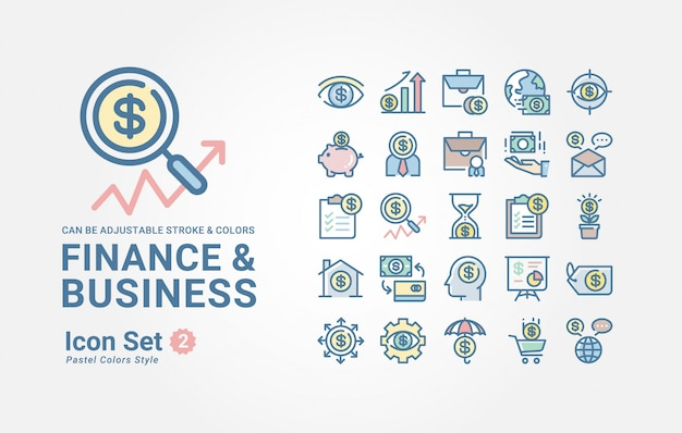 Finance & business icon collection