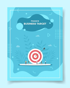 Finance business target people around arrow target board archery accuracy for template