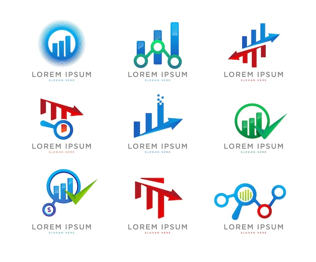 Finance chart logo collection