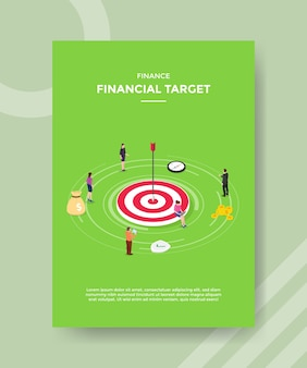 Finance financial target people around accuracy arrow target board