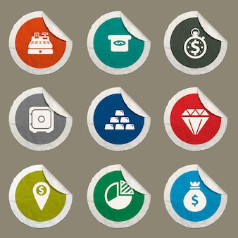 Набор иконок финансов для веб-сайтов и пользовательского интерфейса