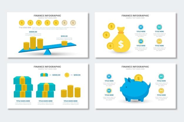 Collezione di infografica di finanza
