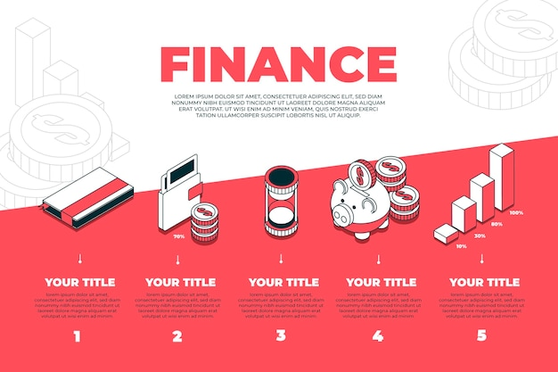 Finance infographic concept