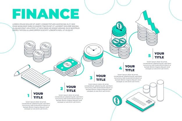 金融インフォグラフィックコンセプト