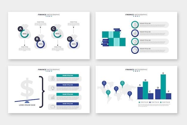 金融インフォグラフィックデザイン