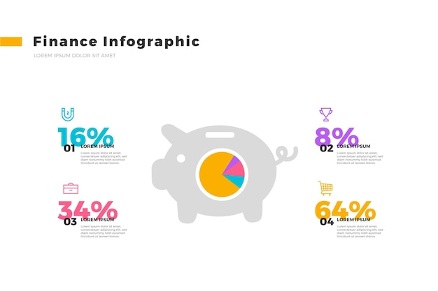 Шаблон финансов инфографики