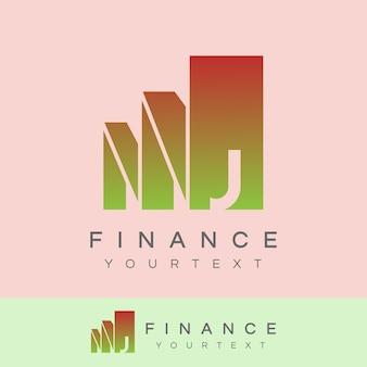 Finance initial letter j logo design