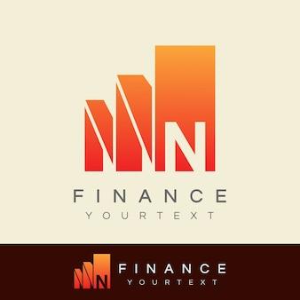 Finance initial letter n logo design