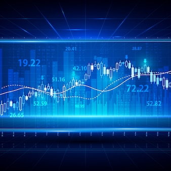 Finance investment stock market exchange background