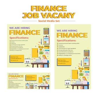 Finance job vacancy social media template