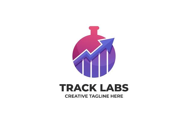 Finance laboratory trade exchange gradient logo