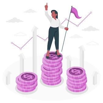 Illustrazione del concetto di finanza leader