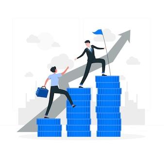 財務リーダーの概念図