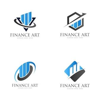 Finance logo set
