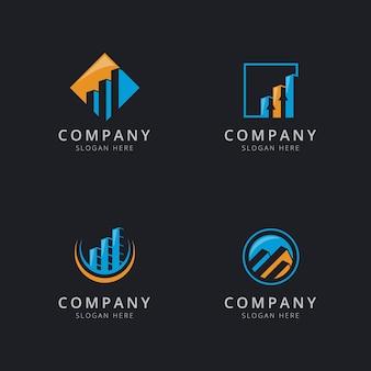 Finance logo template design