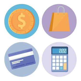 Finance set icons