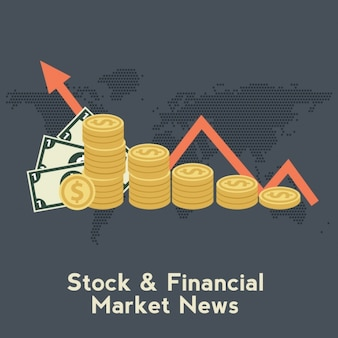 Finances background design