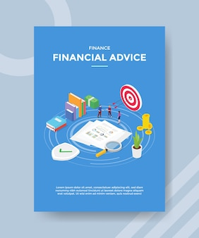Financial advice flyer template