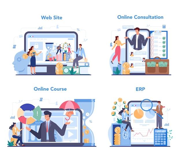 Financial advisor or financier online service or platform set