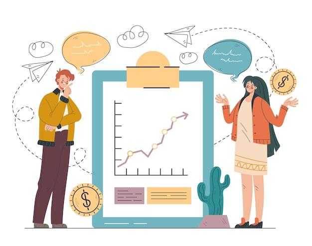 Financial analytics design element concept