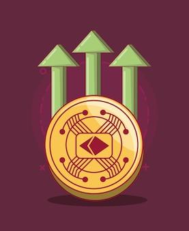 金融矢とクリプトコイン