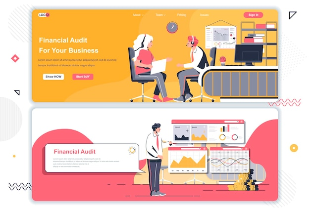 Financial audit landing pages