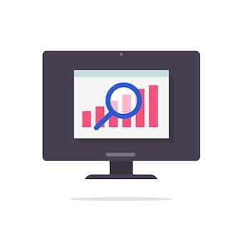Financial audit sales statistics data web research vector concept