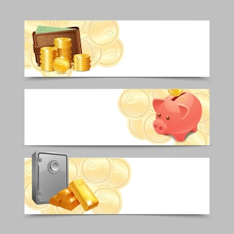 Financial banner set