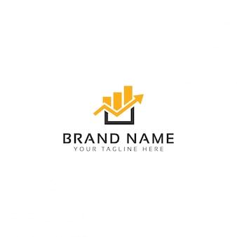 Financial box logo template