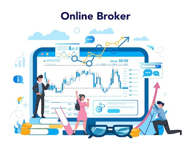 Financial broker online service or platform