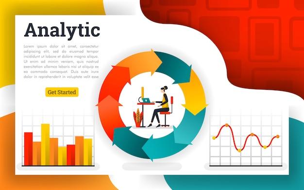 財務循環図とフローチャートレポート
