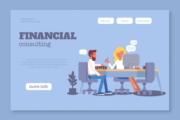 Шаблон веб-страницы финансового консалтинга