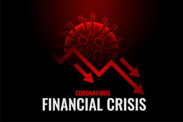 Financial crisis due to coronavirus background design