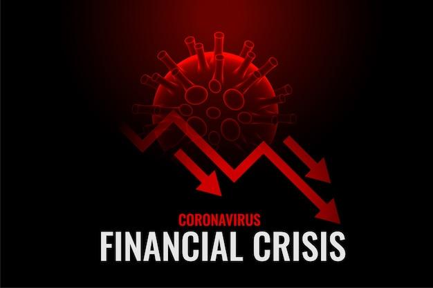 コロナウイルスの背景デザインによる金融危機