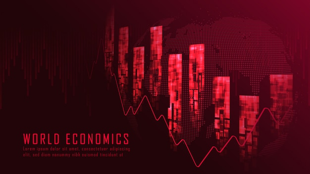 Финансовый кризис графическая концепция фон