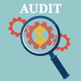 Financial examiner concept  icon. vector illustration.