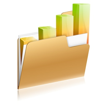 Financial folder icon