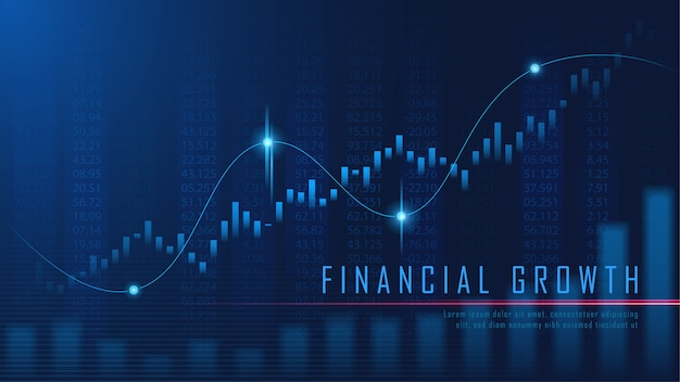 Financial graph in futuristic concept