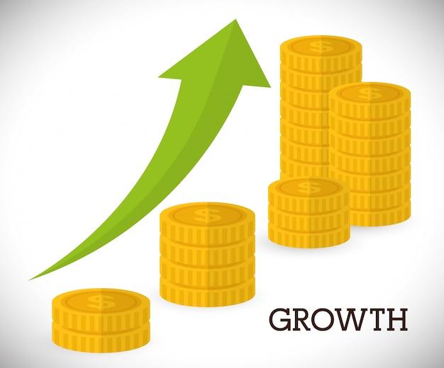 Financial growth design.