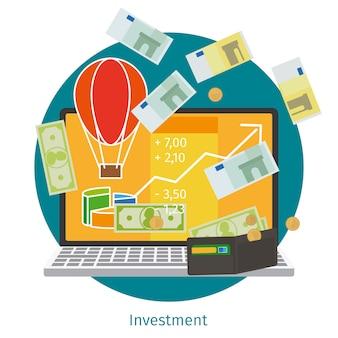 금융 투자 개념.